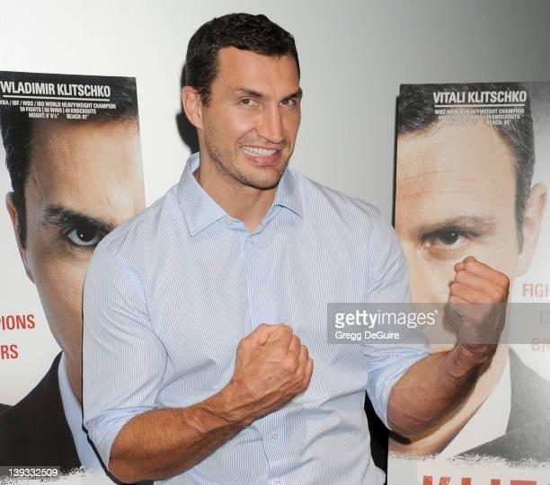 Wladimir Klitschko arrives at the Los Angeles Screening of the documentary Klitschko at the Landmark Theater on September 27 2011 in Los Angeles...