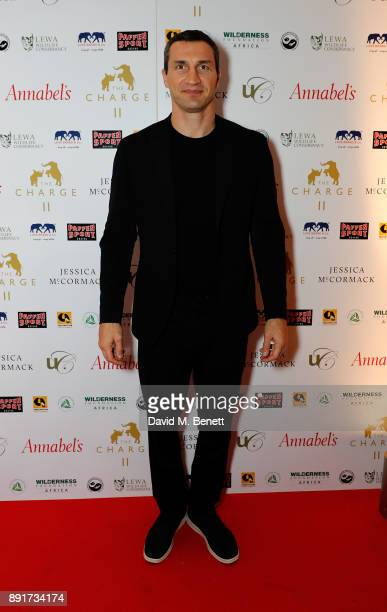 Wladimir Klitschko attends The Charge II boxing fundraiser at The Lindley Hall on December 13 2017 in London England