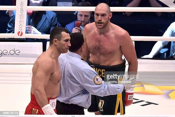 Wladimir Klitschko fights Tyson Fury at EspritArena on November 28 2015 in Duesseldorf Germany