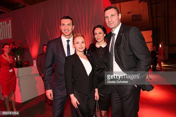 Wladimir Klitschko Hayden Panettiere Natalia Klitschko and Vitali Klitschko attends the Ein Herz Fuer Kinder Gala 2015 reception at Tempelhof Airport...