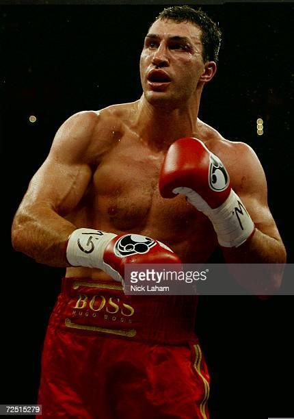 Wladimir Klitschko of Ukraine fights Calvin Brock in the IBF & IBO World Heavyweight Championship bout on November 11, 2006 at Madison Square Garden...