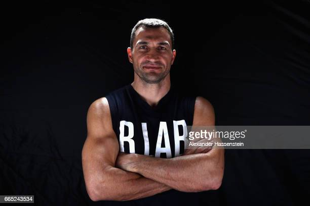 Wladimir Klitschko of Ukraine poses for a portrait prior to a training session at Hotel Stanglwirt on April 6 2017 in Going Austria The Heavyweight...