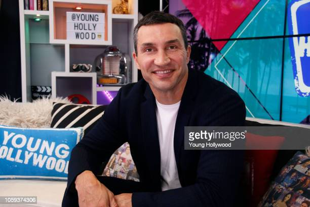 Wladimir Klitschko visits the Young Hollywood Studio on October 25 2018 in Los Angeles California