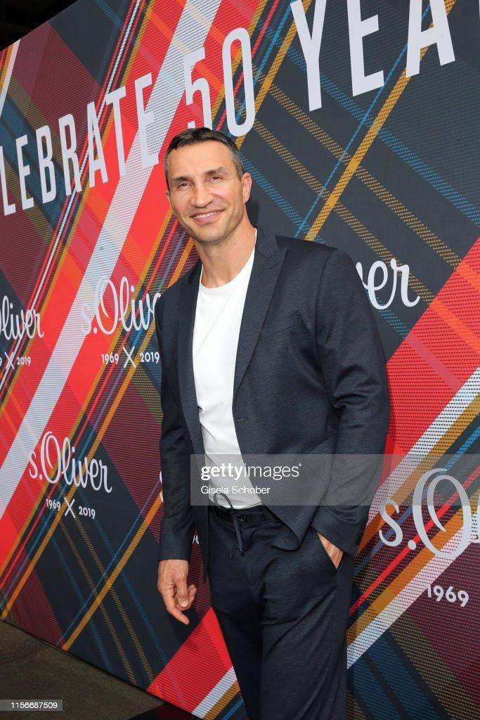 best website 0c84f b5c8c Wladimir Klitschko, wearing a jog suit by s.Oliver, during ...