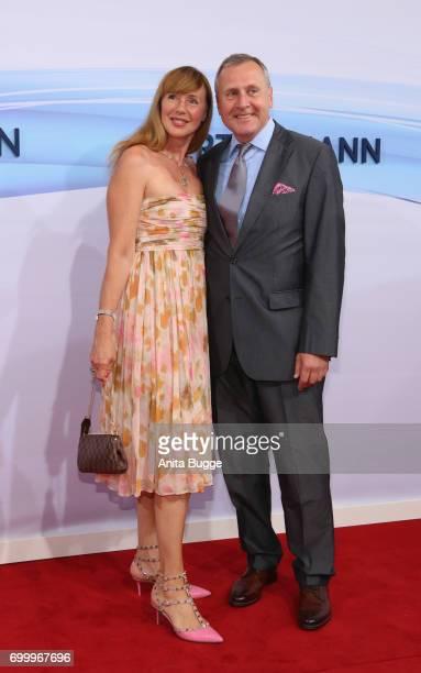 Wladimir Kotenev and Maria S Koteneva attend the Bertelsmann Summer Party at Bertelsmann Repraesentanz on June 22 2017 in Berlin Germany