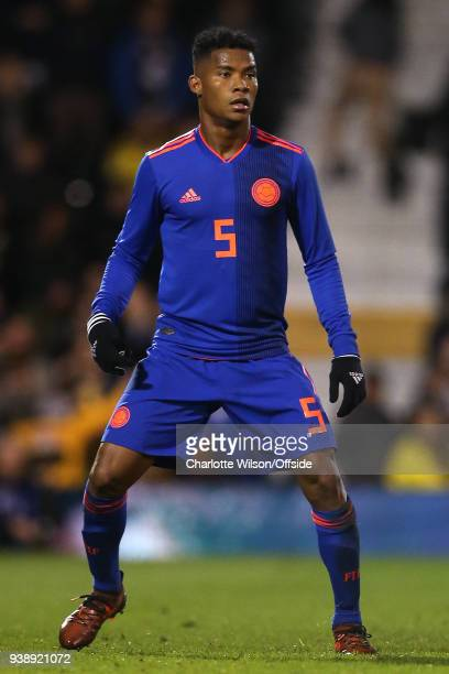 Wílmar Barrios of Colombia during the International Friendly match between Australia and Colombia at Craven Cottage on March 27 2018 in London England