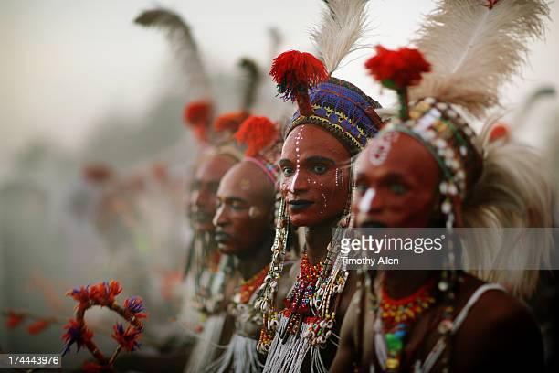 Wodaabe men dancing the Yaake dance
