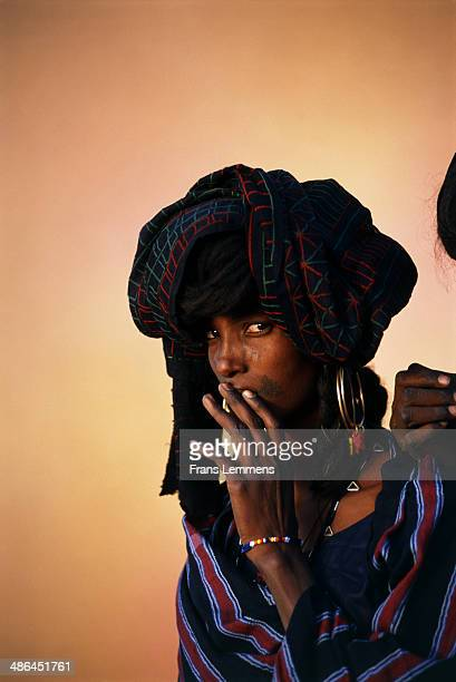 wodaabe woman - fulani stock photos and pictures