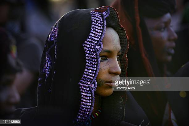 Wodaabe woman with facial scar tattoos