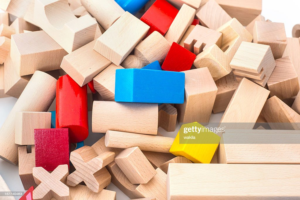 wodden colored toy cubes : Stock Photo