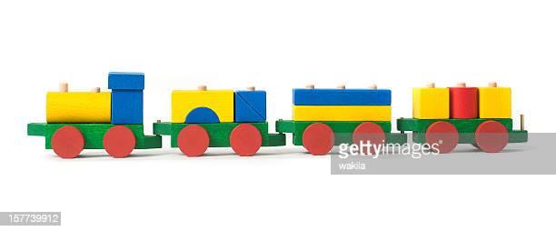 wodden colored toy train - bunte Holzeisenbahn