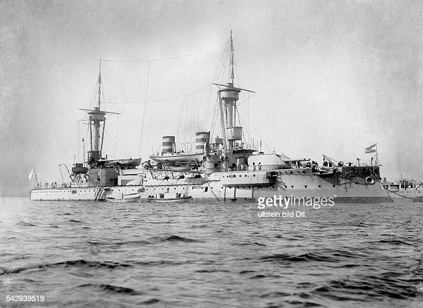 SMS Woerth battleship 1904 Photographer A Renard Vintage property of ullstein bild