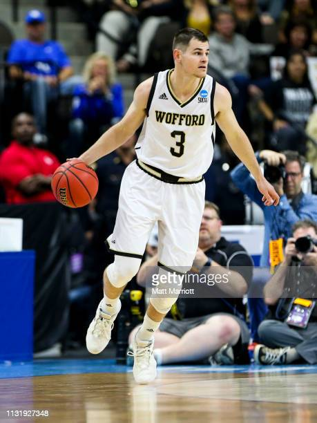 Wofford Terriers guard Fletcher Magee dribbles the ball during a game against the Seton Hall Pirates in the first round of the 2019 NCAA Photos via...