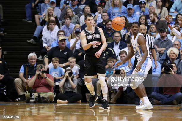 Wofford's Fletcher Magee during the North Carolina Tar Heels game versus the Wofford Terriers on December 20 at Dean E Smith Center in Chapel Hill NC...