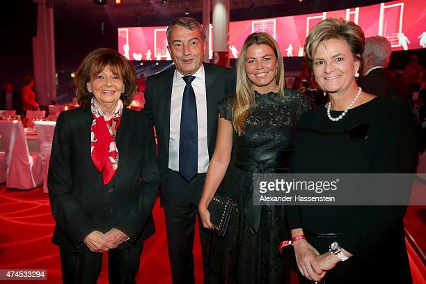 Wofgang Niersbach President of German Football Association DFB talks to Prominent German Jewish leader Charlotte Knobloch Marion Popp and during the...