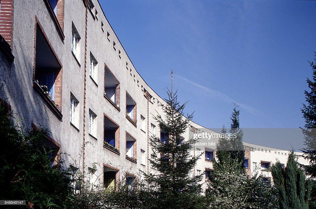 Wohnhäuser In Der Hufeisensiedlung Aussenansicht Mai 1999