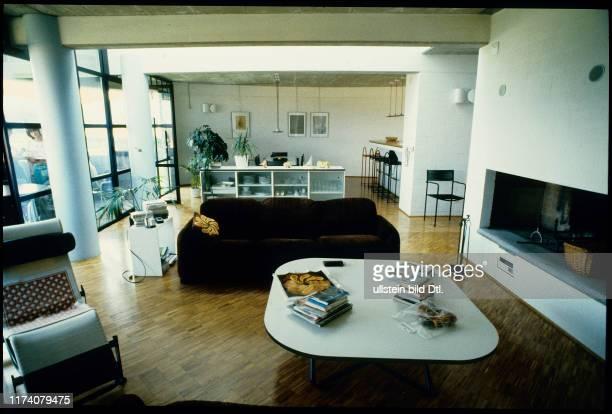 Wohnraum in Einfamilienhaus von Mario Botta 1983