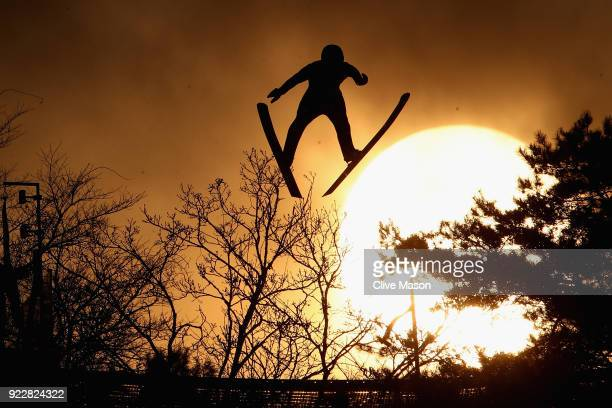 Wojciech Marusarz of Poland competes during the Nordic Combined Team Gundersen LH/4x5km Ski Jumping Competition Round on day thirteen of the...