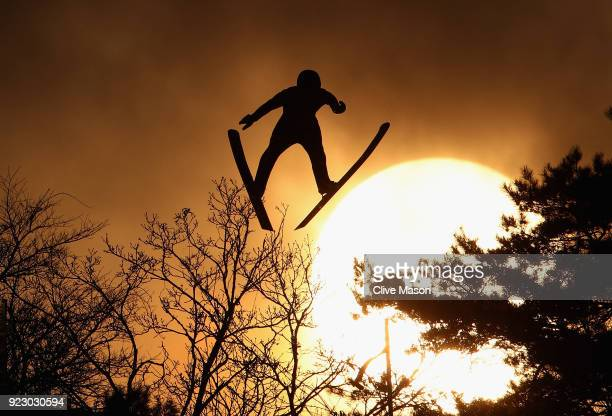 Wojciech Marusarz of Poland competes during the Nordic Combined Team Gundersen LH/4x5km Ski Jumping Competition Round at Alpensia CrossCountry Centre...