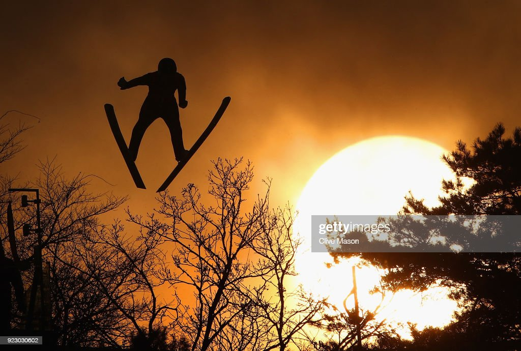 Wojciech Marusarz of Poland competes during the Nordic Combined Team Gundersen LH/4x5km, Ski Jumping Competition Round at Alpensia Cross-Country Centre on February 22, 2018 in Pyeongchang-gun, South Korea.