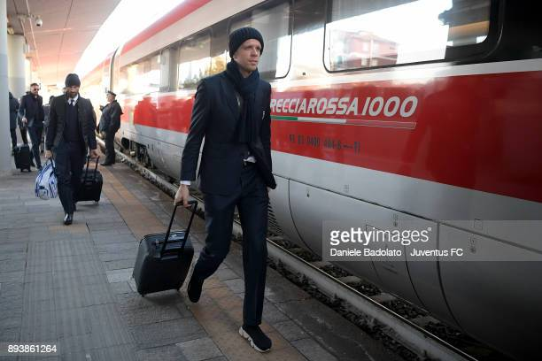 Wojciech Szczesny during Juventus Travel to Bologna ahead of the Serie A match versus Bologna FC on December 16 2017 in Bologna Italy