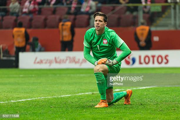 Wojciech Szczesny during the friendly match between Poland and Iceland at the National Stadium on November 13 2015 in Warsaw Poland