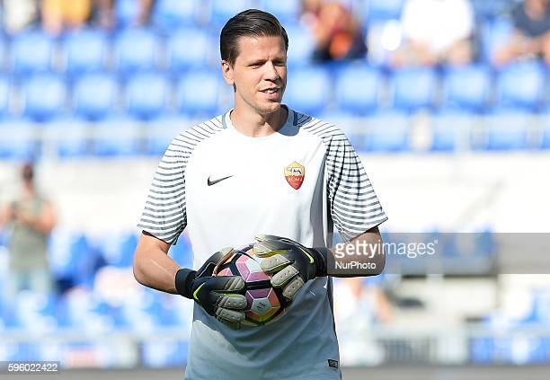 Wojciech Szczesny during the Italian Serie A football match between AS Roma and Udinese Calcio at the Olympic Stadium in Rome on august 20 2016