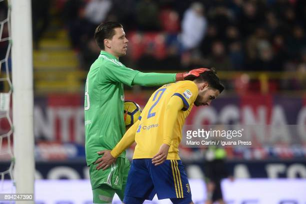 Wojciech Szczesny goalkeeper of Juventus reacts during the Serie A match between Bologna FC and Juventus at Stadio Renato Dall'Ara on December 17...