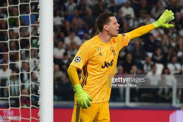 Wojciech Szczesny, Juventus goalkeeper gestures during the UEFA Champions League group D match between Juventus and Bayer Leverkusen at Juventus...