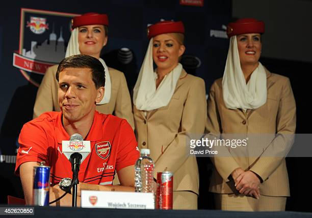Wojciech Szczesny of Arsenal during the press conference at Red Bull Arena on July 24 2014 in Harrison New Jersey