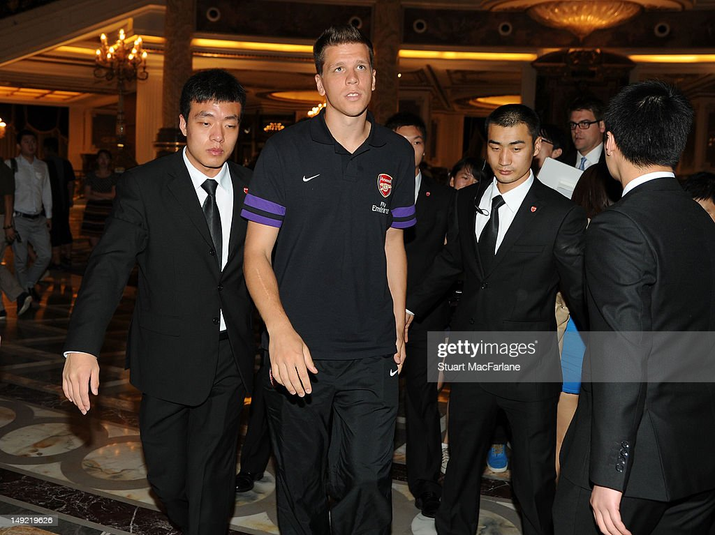 Wojciech Szczesny of Arsenal leaves a charity dinner in Beijing during their pre-season Asian Tour in China on July 25, 2012 in Beijing, China.