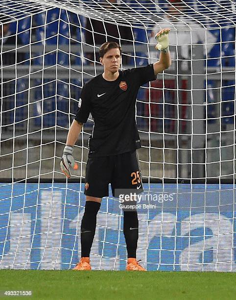 Wojciech Szczesny of AS Roma in action during the Serie A match between AS Roma and Empoli FC at Stadio Olimpico on October 17 2015 in Rome Italy