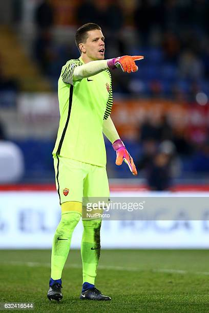 Wojciech Szczesny of AS Roma in action during the Serie A match between AS Roma and Cagliari Calcio at Stadio Olimpico on January 22 2017 in Rome...