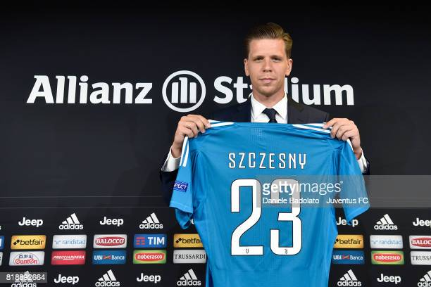 Wojciech Szczesny of Juventus attends a press conference on July 19 2017 in Turin Italy