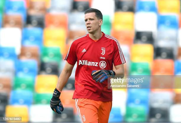 Wojciech Szczesny of Juventus looks on during the Serie A match between Udinese Calcio and Juventus at Stadio Friuli on July 23, 2020 in Udine, Italy.