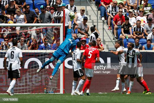 Wojciech Szczesny of Juventus makes a save against Benfica during the International Champions Cup 2018 match between Benfica and Juventus at Red Bull...