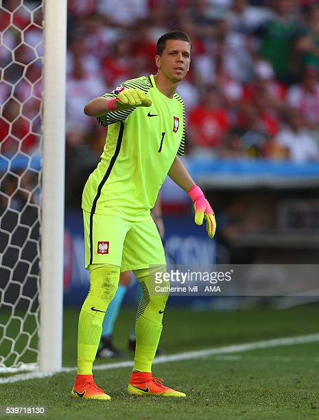Wojciech Szczesny of Poland during the UEFA EURO 2016 Group C match between Poland and Northern Ireland at Allianz Riviera Stadium on June 12 2016 in...