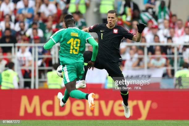 Wojciech Szczesny of Poland fails to tackle Mbaye Niang of Senegal who goes on to score his sides second goal during the 2018 FIFA World Cup Russia...