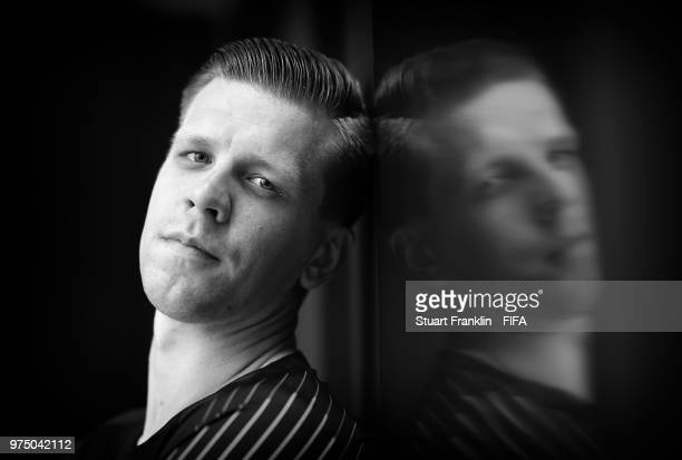 Wojciech Szczesny of Poland poses for a photograph during the official FIFA World Cup 2018 portrait session at on June 14 2018 in Sochi Russia