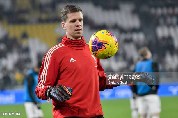 Wojciech Szczęsny of Juventus FC on warm-up session during the Coppa Italia match between Juventus and Udinese Calcio at Allianz Stadium on January...