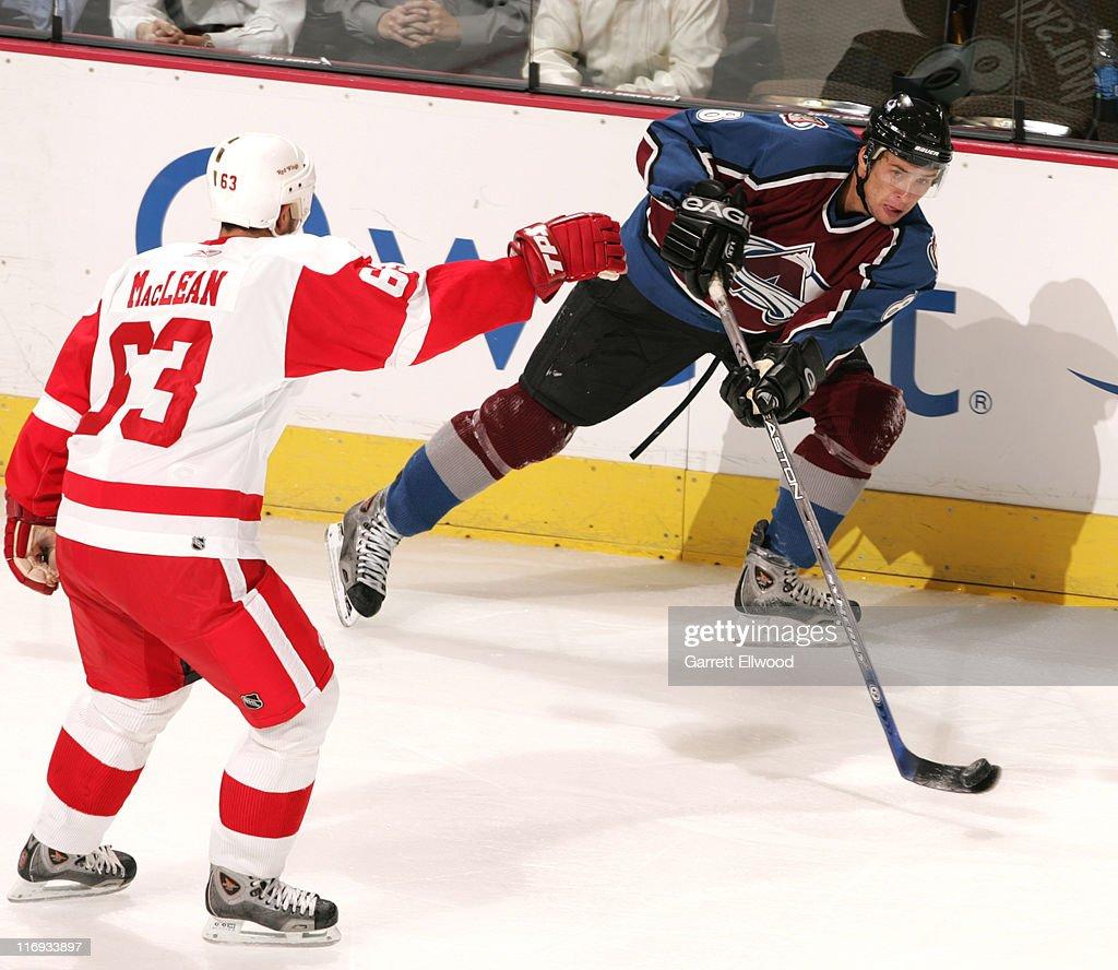 NHL Preseason - Detroit Red Wings vs Colorado Avalanche - September 27, 2005