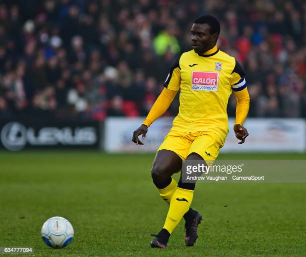 Woking's Ismail Yakubu during the Vanarama National League match between Lincoln City and Woking at Sincil Bank Stadium on February 11 2017 in...