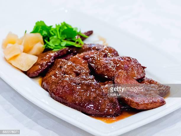 Wok-seared pork liver with coriander