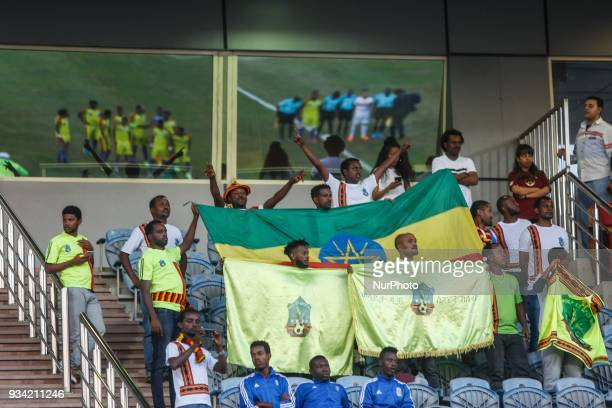Wolaita Dicha's fans during match between Zamalek SC vs Wolaita Dicha during African Confederation Cup 2018 in Cairo on March 18 2018
