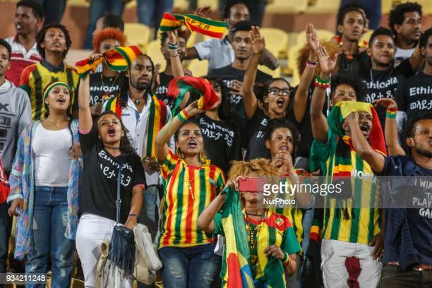 Wolaita Dicha's fans during match between Zamalek SC vs Wolaita Dicha during African Confederation Cup 2018in Cairo Egypt on March 18 2018
