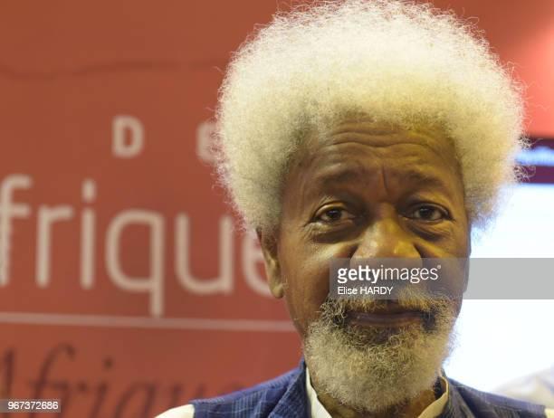 Wole Soyinka écrivain prix nobel de la littérature en 1986 lors du Salon du Livre le 24 mars 2017 à Paris France