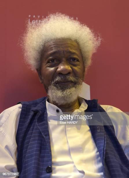 Wole Soyinka écrivain prix nobel de la littérature en 1986 lors du Salon du Livre le 27 mars 2017 à Paris France