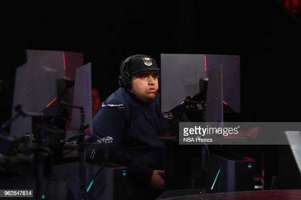 WoLF 74 of Pacers Gaming plays against Cavs Legion Gaming Club on May 25 2018 at the NBA 2K League Studio Powered by Intel in Long Island City New...