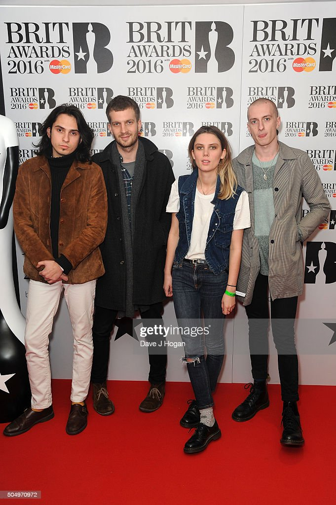ONLY] Wolf Alice attend the nominations launch for The Brit Awards 2016 at ITV Studios on January 14, 2016 in London, England.