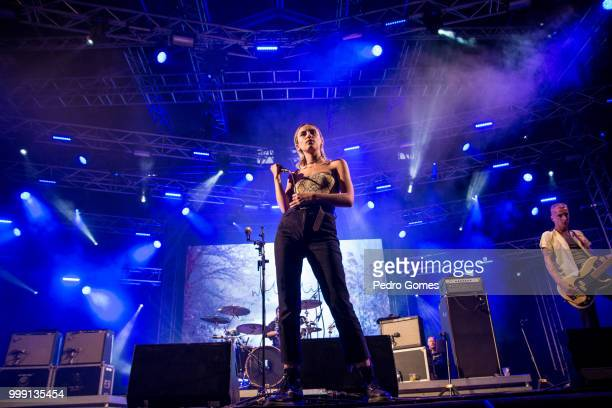 Wolf Alice perform on the Sagres Stage on day 1 of NOS Alive festival on July 12 2018 in Lisbon Portugal